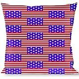 buckle-down Throw枕星&stripes3レッド/ホワイト/ブルー、Americana