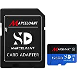 TF Card 128GB, Marceloant Memory Cards Class 10 TF Card with Adapter, High Speed Memory Card for Phone Camera Computer, Black