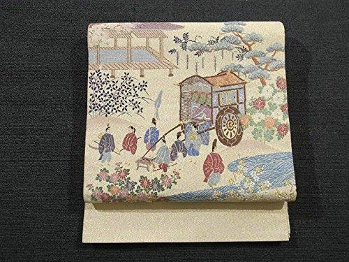リサイクル 袋帯  手織綴れ 葵祭の図