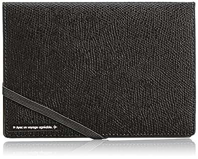 [コンサイス] スキミングブロック パスポートカバー皮革調R ブラック 13cm  293118 BK ブラック
