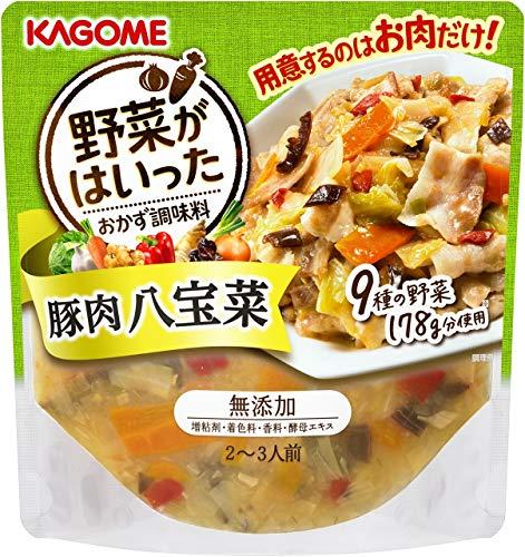カゴメ 野菜がはいったおかず調味料 豚肉八宝菜 210g ×8袋