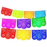 2 Pack. Mexican Papel Picado Banner.