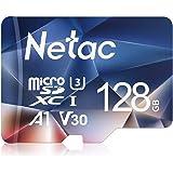 Netac microsd カード 128GB microSDXC UHS-I 読取り最大100MB/s 667X U3 Class10 フルHD ビデオV30 A1 FAT32 高速フラッシュTFカード(ラップトップ/Bluetoothスピーカー/タブレット/スマートフォン/カメラ用)P500 【Amazon.co.jp限定】