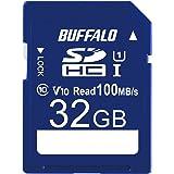 バッファロー SDカード 32GB 100MB/s UHS-1 スピードクラス1 VideoSpeedClass10 IPX7 Full HD データ復旧サービス対応 RSDC-032U11HA/N