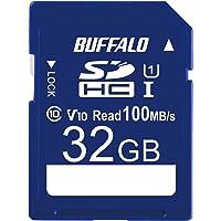 バッファロー SDカード 32GB 100MB/s UHS-1 スピードクラス1 VideoSpeedClass10 I…
