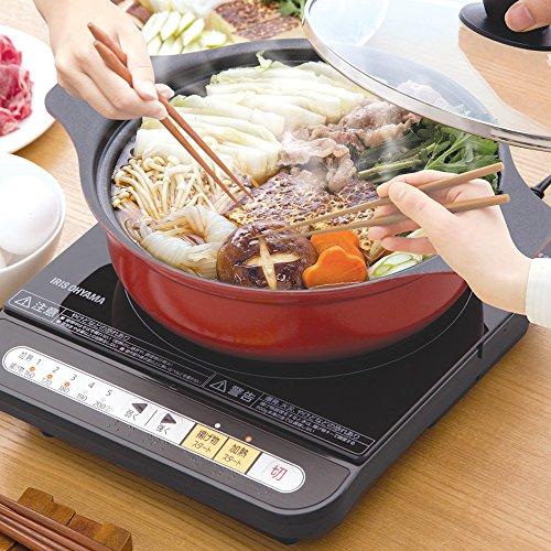 アイリスオーヤマ IHクッキングヒーター 鍋セット 1000W IHKP-3420-B/R