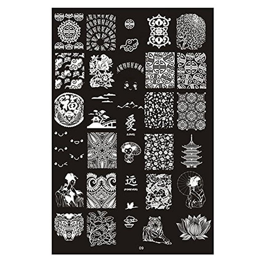 虎雪疑い者[ルテンズ] スタンピングプレートセット 花柄 ネイルプレート ネイルアートツール ネイルプレート ネイルスタンパー ネイルスタンプ スタンプネイル ネイルデザイン用品