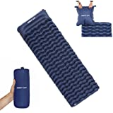 Night Cat Inflatable Sleeping Pads Mat Bed with Pillow and Air Bag for Camping, Backpacking Hiking; Ultra-Light, Compact, Com