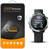 [2-Pack] Supershieldz for Garmin (Forerunner 645 Music) Tempered Glass Screen Protector, Anti-Scratch, Bubble Free, Lifetime