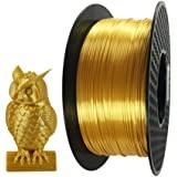 Kehuashina Silk Gold 3D Printer PLA Filament 2.85 mm, Metal Metallic Color Gradient Filament 1.35KG (2.2 LBS) Spool 3D Printi