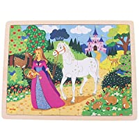 Bigjigs Toys Once Upon a Time Wooden Jigsaw Tray Puzzle for Children - 35 Piece Puzzle 【You&Me】 [並行輸入品]