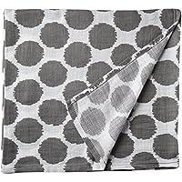Bacati Ikat Grey Dots One Swaddling Muslin Blanket Single by Bacati