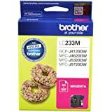 Brother Genuine LC233M Ink Cartridge, Magenta, Page Yield Up to 550 Pages, (LC-233M)