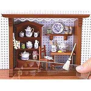 【ロイターポーセリン】【ミニチュア】 ドールハウス ピクチャーボックス キッチン ブルーオニオン RP1701-4