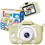 [Amazon限定ブランド] ピントキッズ ネコトイカメラ キッズカメラ 安全ストラップ付 (抹茶ミルク)