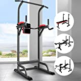 BLACK LORD Multi-Station Weight Bench Press Pull-up Tower Home Gym Fitness Dip Bar Chin-up Station Multi Exercise Strength Tr