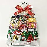 クリスマスお菓子 お菓子袋詰め 子ども ギフト クリスマス会 プレゼント 景品 クリスマス巾着(L)