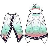 Chermyaa 着る毛布 ブランケット マント きめつのやいば グッズ 仮装 ルームウェア 肩掛け ショール もこもこ かわいい