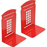 Metal Bookend, Kioneer Vintage Fashion British Style London Telephone Booth Kiosk Thickening Iron Library School Office Home