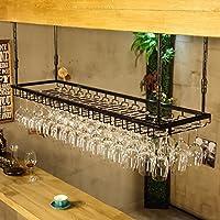 ワイングラスラック、ワイングラスラック、ワイングラスラック、ハンギングレッドワインカップホルダー、吊り下げガラスホルダー、クリエイティブホームバー、ワインラックハンギングガラスホルダー (色 : Black, サイズ さいず : 90 * 35cm)