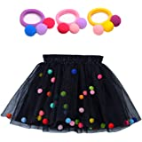 Bingoshine 4 Layers Soft Tulle Puff Ball Girls Tutu Skirts with Silky Lining