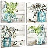 Landscape Flower Picture Canvas Wall Art Modern Purple Lavender Flowers Painting Provence Fields Artwork Canvas Print for Liv