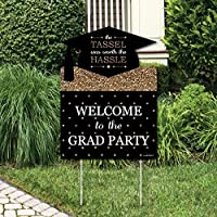 Gold Tassel Worth The Hassle - Graduation Decorations - Graduation Party Welcome Yard Sign [並行輸入品]