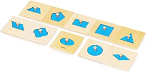 【MONTE Kids】モンテッソーリ教具 -- 幾何学パズル ミニサイズ-- Montessori 知育玩具教具 幼児早期教育 モンテキッズ 本格教材 算数 おもちゃ モンテッソーリ教具 -- 幾何学パズル ミニサイズ--