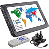 HD Portable TV 10 Inch Digital and Analog LED TV Multimedia Player Support TF Card/USB/Audio Car TV DVB-T DVB-T2 for Car, Out