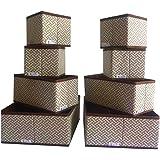 8 Pack Organizer Box Foldable Storage Box Cloth Drawer Divider Clothes Basket Bin Organizer Shelf, Closet, Drawer For Nursery
