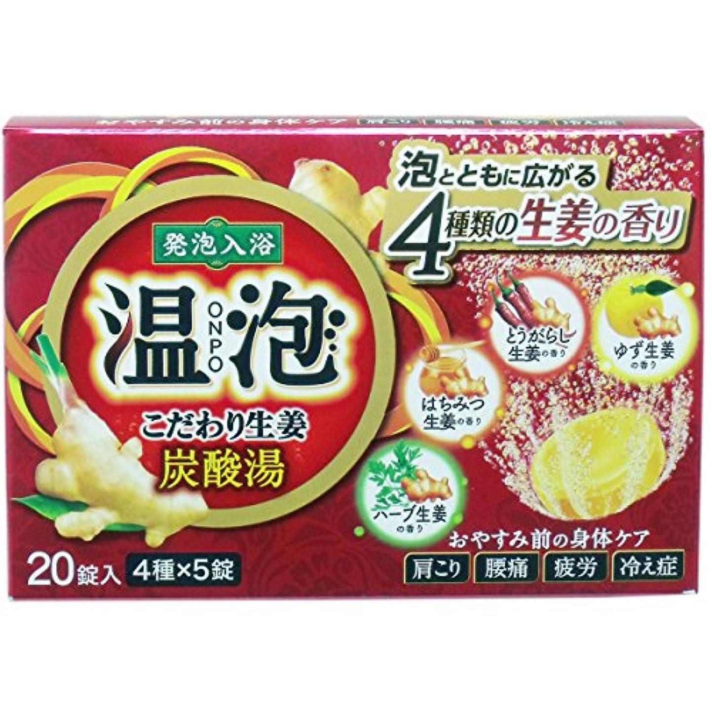 温泡 こだわり生姜 炭酸湯 × 5個セット