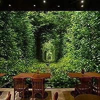 Ljjlm 大壁画カスタム3D壁紙新緑愛文学牧歌的なリビングルームレストラン-360X240CM