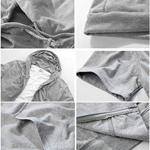 無地 薄手 カットソー スウェット 半袖 トップス メンズ フルジップ パーカー tシャツ KMAZN