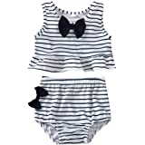 Raoswety Baby Girls Clothing Summer Swimsuit Toddler Baby Striped Bathing Suits 2 pcs Tankini Beach Swimwear with Bow-tie