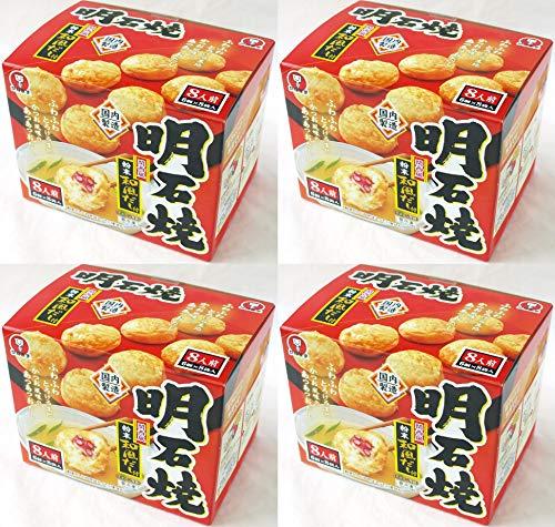 572821-4P かねます食品 冷凍 明石焼(たこ焼)粉末和風だし付 48個入(6個×8袋入)×4箱