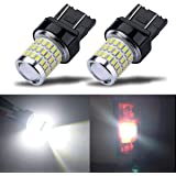 iBrightstar Newest 9-30V Super Bright Low Power 7440 7443 T20 LED Bulbs with Projector Replacement for Back Up Reverse Lights