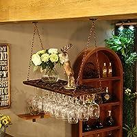 クリエイティブホームバー、ワインラックハンギングガラスホルダー、ワイングラスラック、シェルフワイングラスホルダー、ワイングラスラック、ワイングラスラック、シャンパングラスラック、ガラス器具ラック (色 : ブロンズ, サイズ さいず : 80 * 31cm)
