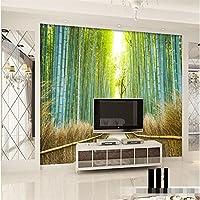 Sproud 装飾の背景の壁紙のシンプルなリビングルームネイチャートレイル竹オフィスバスルームの壁の壁画の写真壁紙 400 Cmx 280 Cm
