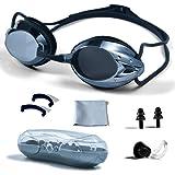 PHELRENA Swimming Goggles, Professional Swim Goggles Anti Fog UV Protection No Leaking for Adult Men Women Kids Swim Goggles