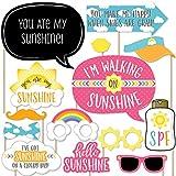 Bigドットの幸せのYou Are My Sunshine – ベビーシャワーまたは誕生日パーティー写真ブース小道具キット – 20カウント