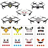 RCGEEK Stickers Set 3M Drone Decals Facial Expression Skins Compatible DJI Mavic 2 Pro/Zoom Mavic Pro Platinum/Pro Mavic Air