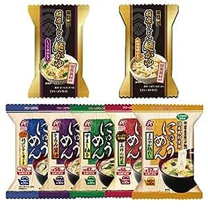 フリーズドライ にゅうめん&麺がゆ7種14食セット(国産具材使用)