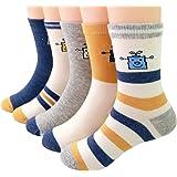 RIEASTCH スポーツ 靴下 キッズ カラーフル 5足セット スポーツ 靴下 男の子 女の子 スポーツ ソックス 男の子 女の子 登園 通学