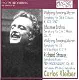 モーツァルト:交響曲第33番、第36番、ブラームス:第2番、R.シュトラウス:英雄の生涯 画像
