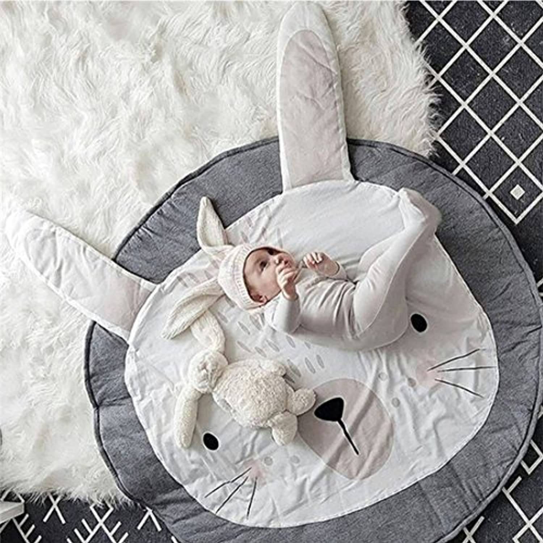 BIUBEE ベビークロールマット 遊びマット 柔らかい 綿 パッド 床マットパッド カーペット 空調ブランケット クッション 幼児