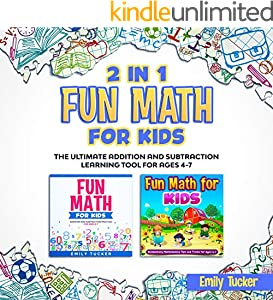 2 IN 1 Fun Math for Kids: The Ultimate Addition and Subtraction Learning Tool for Ages 4-7 (English Edition)