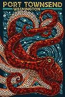 ポートTownsend、ワシントン–Octopusモザイク 24 x 36 Signed Art Print LANT-52501-710