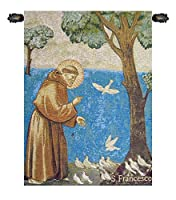 聖フランシス鳥に説教イタリアタペストリー壁吊り
