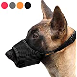 Heele Dog Muzzle Nylon Soft Muzzle Anti-Biting Barking Secure,Mesh Breathable Pets Mouth Cover for Small Medium Large Dogs 4