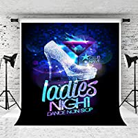 ケイト5x 7ft Ladies Night Backdrop Silveryハイヒールグリッター背景のプロムパーティーPhoto Studio Propカスタマイズ